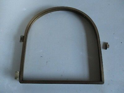 Antique Arched Top Front Clock Bezel Brass No Glass For Spares