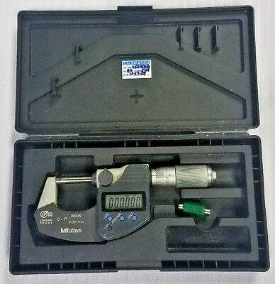 "Mitutoyo 0-1"" 293-344 IP65 Coolant Proof Digital Digimatic Micrometer Machinist"
