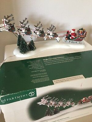 Collectible Dept 56 Santa's Sleigh With Flashing Lights