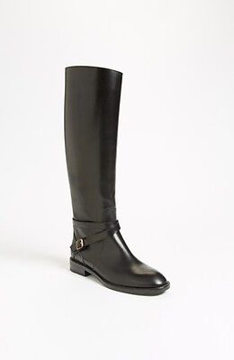 8083b63ddaf New sz 5.5 35.5 Saint Laurent Cavalierenee Black Leather Pull On Tall Boot  Shoes