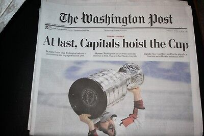 Washington Post Stanley Cup Final 6/8/18 - At last, Capitals hoist the Cup