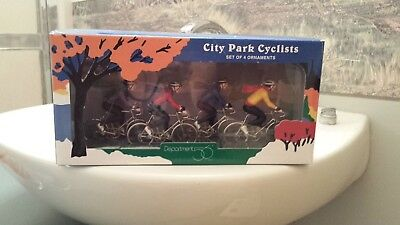 Dept 56 City Park Cyclists Set of 4 Ornaments Retired.  New In Box