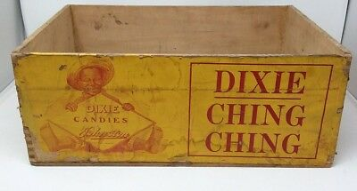 DIXIE CHING CHING Wooden Candy Crate Box JOHNSTON Candy Co. Milwaukee WI