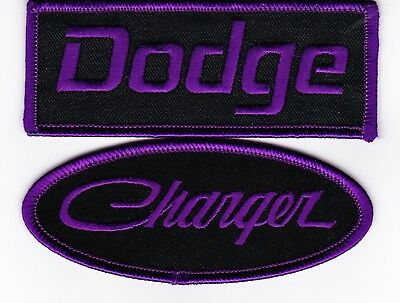 Dodge Charger Black Purple Sew/iron On Patch Badge Embroidered Hemi Mopar Srt