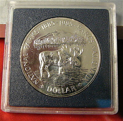 Canada-----1985 National Parks Proof Silver Dollar Coin-----free ship