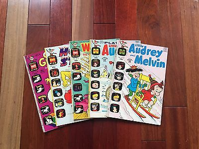 1970-1972 Collection of Five (5) Harvey Comic Books (various)