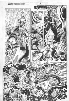 Cosmic Powers Unlimited #? p.8 - Firelord - art by Dave Hoover