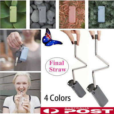 Final Straw Collapsible Reusable Stainless Straw Portable Travel Outdoor House
