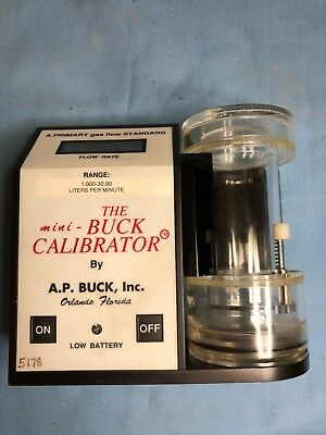 A.P. Buck Mini-Buck Primary Gas Flow Calibrator M-30 checked power ON/OFF