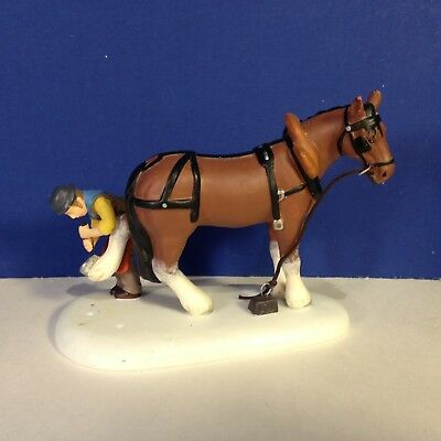 Dept 56 Dickens Village SHOEING THE HORSE w/ box Combine Shipping!