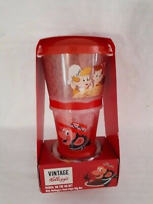 Vintage Kellogg's Cereal on the Go Set New