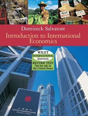 Introduction to International Economics by Salvatore, Dominick Hardback Book The