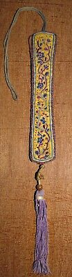antique chinese embroidery antique fan holder forbidden stitch hanzi china