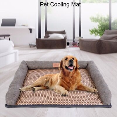 Dog Cooling Mat Pet  Chilly Non-Toxic Summer Cool cotton Bed Pad Cushion Indoor