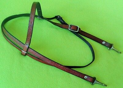 TexTan Vintage TOOLED Leather Cowboy Western Horse HEADSTALL Bridle~Made USA~NR!