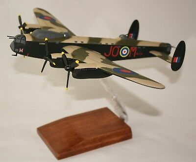 Raaf Avro Lancaster Bomber -  Large 1:72 Scale Precision-Built Desk Top Model