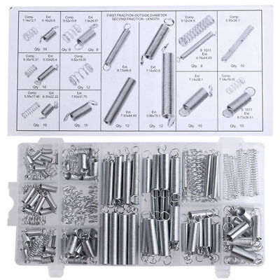 200Pcs Set 20 Sizes Practical Metal Tension Extended Compression Springs Kit