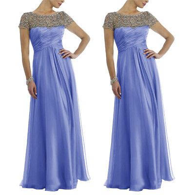 Floor Length Mother of the Bride/Groom Dresses Crystal Evening Gowns Size 22/24W