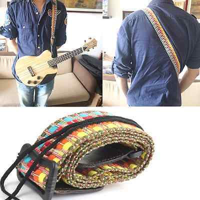 Adjustable Classic Style Guitar Soft Strap Cotton For Belt Electric Bass