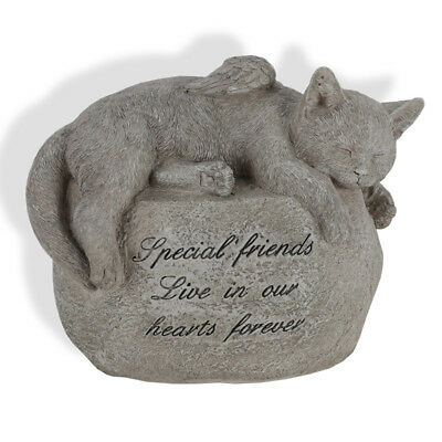 Cat Memorial Statue 24cm Special Friends Live In Our Hearts Forever