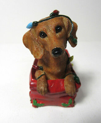 Danbury Mint ~ LIT UP WITH MISCHIEF ~ Delightful Dachshunds Christmas Ornaments