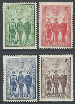 1940 Australian Imperial Forces - AIF Set MLH - SG 196/7/8/9 Cat Val Circa $90