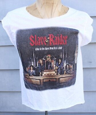Rare Vintage Slave Raider What You Know About Rock n' Roll Promo Shirt Tank Top