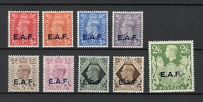s23091) E.A.F. SOMALIA 1943 MNH** Definitives ovptd 9v Sassone 1/9