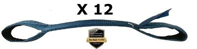 12 x Load Restraint Strap for Car Carrying With Loops, Wheel Strap, Towing Tow