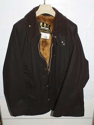 barbour bedale  jacket +inner pile brown   jacke waxed cotton c46-117   xl