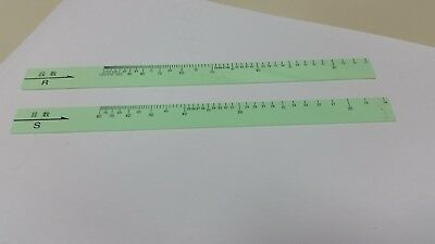 'Green Ruler' - Knitting machine standard gauge stitch and row scale