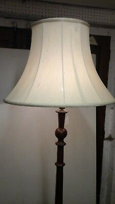 Beautiful highly carved Antique mahogany standard lamp.