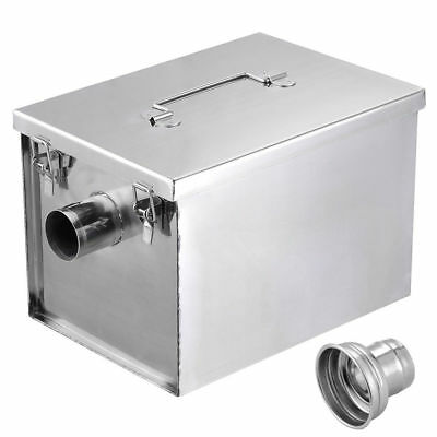 8LB Commercial 5GPM Gallons Per Minute Grease Trap Stainless Steel Interceptor