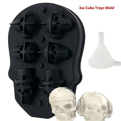 Silicone 3D Skull Shape Ice Cube Trays Mold Mould Cocktails Whisky 6 plaid 2018