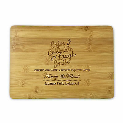 Personalised Wedding Gift Engraved Wooden Chopping Board for Couple Fast Ship