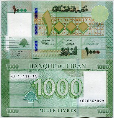 Lebanon 1000 1,000 Lives 2016 P New Date S/n Design Security Unc Nr