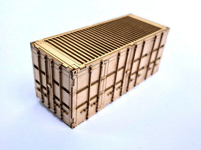 20ft MOD SHIPPING CONTAINER LASER CUT KIT OO SCALE 1:76 MODEL RAILWAY LX178-OO