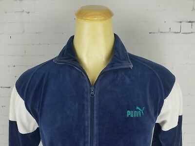 Cooperative Xl Navy Vintage Blue Puma Zip Up Jacket With Striped Sleeves Tracksuits & Sets