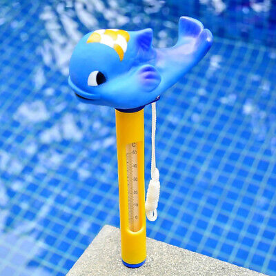 Pool&Spas Thermometer Floating Swimming Water Temperature with Rope Whale #2