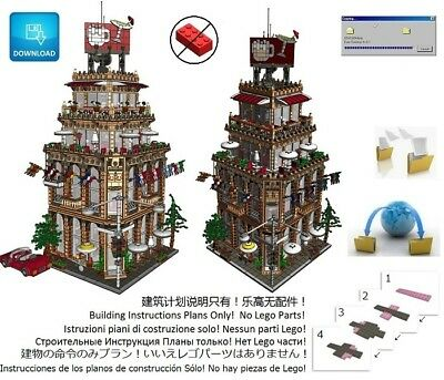 Lego Pub Corner Cafe Instructions Modular Custom Building Design
