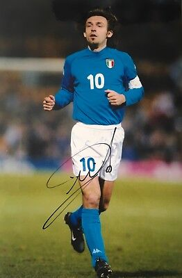 Andrea Pirlo signed Image N 12x8 Italy photo UACC registered dealer AFTAL RACC