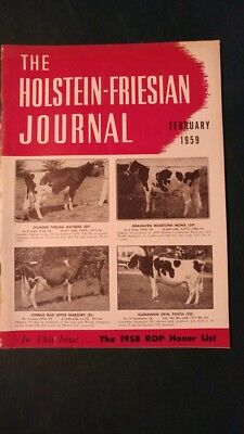 Holstein Journal 1959 Canadian Production Champions & 1958 Honor List Issue