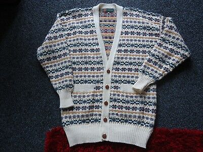Coatwrights Invertere Lambswool Cardigan Size Large