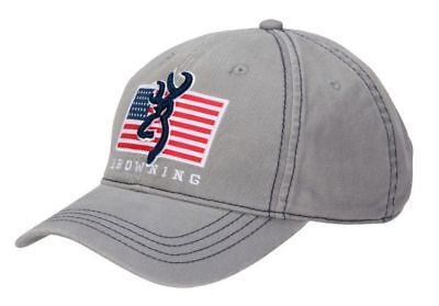 buy online 27a07 1a15e ... coupon code browning pride buckmark logo with usa flag cotton hat cap  in gray strapback new