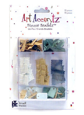 Bigger Brads - Assorted Shapes, pk of 72 - Tags/Corners/Stamps Serenity Palette