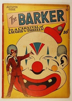 The Barker #1 (Autumn 1946, Quality Comics) First Issue - The Evil Clown Bobo