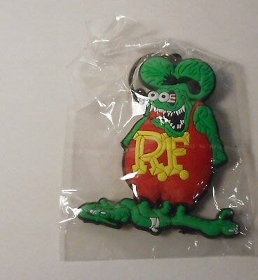 Double sided soft rubber RAT FINK KEY CHAIN hard to find gift item!!!