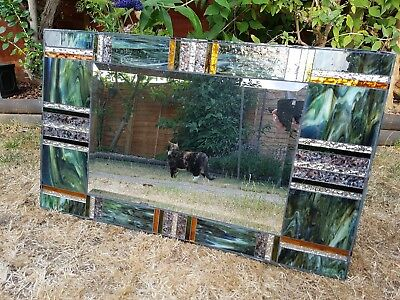 Hand made stained glass mirror  ONE OFF!! Stunning detail. A must for your wall.
