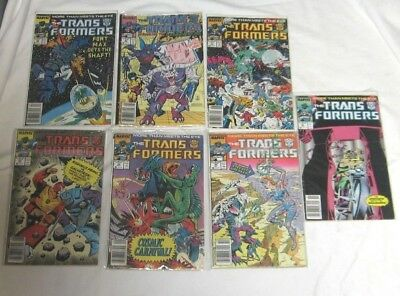 Marvel Comics The Transformers  #'s 39 40 41 43 44 45 & 46 LOT