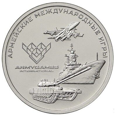 Russia 25 Rubles 2018 Army International Games Unc New!!!